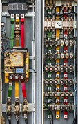 Industrial Fuse Box On The Wall Print by Oliver Sved