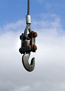 Industrial Lifting Hook Print by Science Photo Library