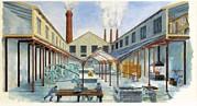 Industrial Revolution 19th C.. Factiry Print by Everett