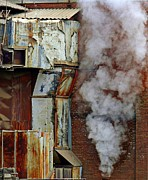 Concord New Hampshire Prints - Industrial Smoke Print by Marcia Lee Jones