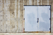 Building Feature Metal Prints - Industrial unit double doors Metal Print by Nathan Griffith