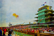 Morning Race Prints - Indy 500 May 2013 Race Day Start Balloons Print by David Haskett