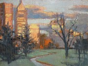 Donna Shortt Art - Indy at Dusk by Donna Shortt