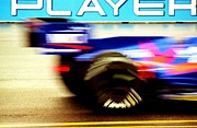 Indy Car Prints - Indy Car Blurrr Print by David M Davis