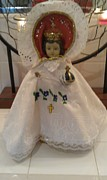 Crystals Tapestries - Textiles - Infant of Prague  8 inch Vestment Holy Week  by Laurie Dedmon