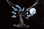 Wire-wrapped Jewelry Originals - Infini-Tree Opalite Neck Wear by Jennifer Dubois