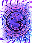 Devotional Mixed Media - Infinite Om- Sahasrara by James Foote