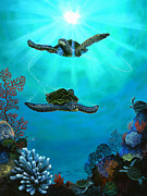 Hawaii Sea Turtle Paintings - Infinite Possibilities by Ed Garcia