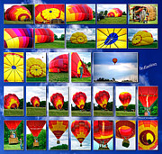 Coller Posters - Inflation Hot Air Balloon Poster by Thomas Woolworth