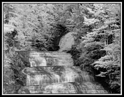 Buttermilk Falls State Park Prints - Infrared Buttermilk Falls 2 Print by David Blatchley