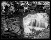 Buttermilk Falls State Park Prints - Infrared Buttermilk Falls 7 Print by David Blatchley