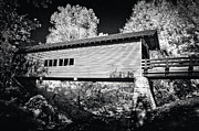 Country Scenes Acrylic Prints - Infrared Covered Bridge Acrylic Print by Paul W Faust -  Impressions of Light