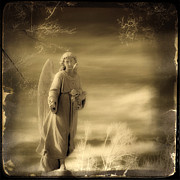 Infrared Framed Prints - Infrared Dream Angel Framed Print by Gothicolors And Crows
