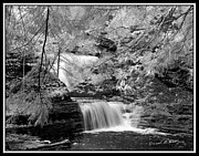 Buttermilk Falls State Park Prints - Infrared Upper Buttermilk Falls 10 Print by David Blatchley