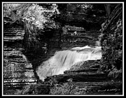 Buttermilk Falls State Park Framed Prints - Infrared Upper Buttermilk Falls 13 Framed Print by David Blatchley
