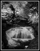 Buttermilk Falls State Park Prints - Infrared Upper Buttermilk Falls 17 Print by David Blatchley