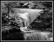 Buttermilk Falls State Park Prints - Infrared Upper Buttermilk Falls 9 Print by David Blatchley