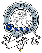 Genealogy Prints - Inglis Clan Badge Print by Heraldry