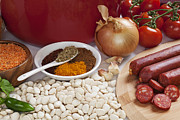 Soup Art - Ingredients for Spanish Chorizo Soup by Colin and Linda McKie