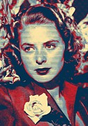 Film Mixed Media - Ingrid Bergman by Art Cinema Gallery
