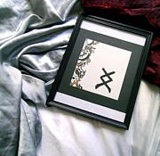 Anticipation Drawings Framed Prints - Inguz Framed Print by Caerys Walsh