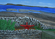 Scarecrow Originals - Inis Meain 19 Scarecrow In Red by Roland LaVallee