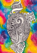 Tiedye Posters - Ink and Watercolor Poster by Kayla Soufer