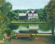 New Jersey Painting Originals - Inn at Lambertville Station by Addie Hocynec
