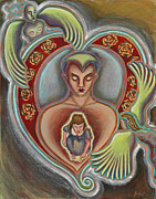 Visionary Artist Painting Prints - Inner Child Print by Annette Wagner