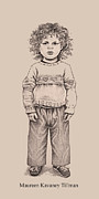 Pants Drawings Posters - Inner Child Poster by Maureen Tillman