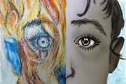 Graphite Pastels - Inner child by Michael Amos