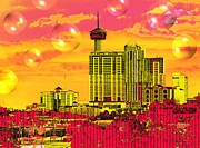 Art166 Metal Prints - Inner City - Day Dreams Metal Print by Wendy J St Christopher