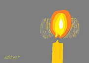 Christianity Drawings - Inner Flame by Anita Dale Livaditis