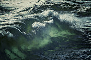 Sea With Waves Prints - Inner Glow Of Ocean Waves Print by Anne Macdonald