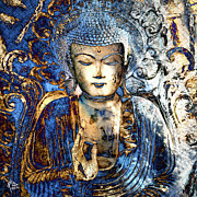 Buddhist Art Mixed Media Posters - Inner Guidance Poster by Christopher Beikmann