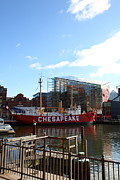 Seaport Photo Posters - Inner Harbor at Baltimore MD - 12122 Poster by DC Photographer
