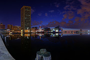 Rise Prints - Inner Harbor At Baltimore Print by Metro DC Photography