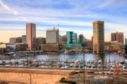 Sky Line Framed Prints - Inner Harbor Framed Print by JC Findley