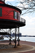 Lighthouse Digital Art - Inner Harbor Lighthouse - Baltimore by Bill Cannon