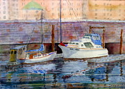 Cruiser Painting Metal Prints - Inner Harbour Victoria Metal Print by Mohamed Hirji