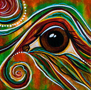 Sacred Art Paintings - Inner Strength Spirit Eye by Deborha Kerr