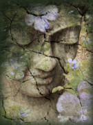 Floral Mixed Media Metal Prints - Inner Tranquility Metal Print by Christopher Beikmann