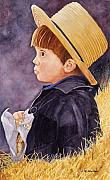 Amish Painting Framed Prints - Innocence Framed Print by John W Walker