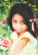 Innocence Child Metal Prints - Innocence Metal Print by Mo T