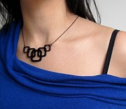 Long Chain Jewelry Originals - Inseparable Squares Necklace by Rony Bank