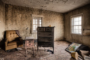 Long Gone Framed Prints - Inside Abandoned House photos - Old room - Life long gone Framed Print by Gary Heller