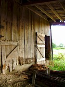 Old Barns Metal Prints - Inside an Indiana Barn Metal Print by Julie Dant