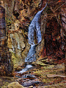 Buttermilk Falls Art - Inside Buttermilk Falls by Pamela Phelps