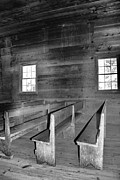 Gatlinburg Tennessee Prints - Inside Cades Cove Primitive Baptist Church Print by Dan Sproul