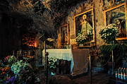 Icons  Art - Inside Cave Church Virgen de la Pena. Mijas by Jenny Rainbow